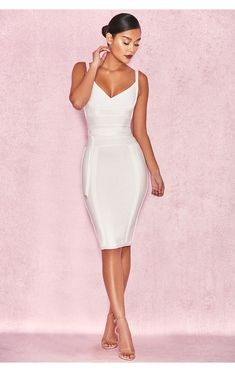 a0281171b7b Clothing   Bandage Dresses    Belice  White Tie Waist Bandage Dress Robes  Bandage