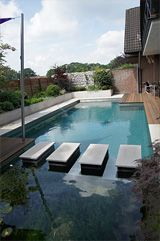 Biotop Living Pool - stepping stones