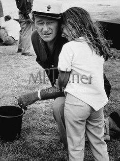 John Wayne On The Set Of Donovan's Reef With Daughter Aissa