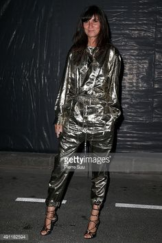 Emmanuelle Alt arrives at Vogue 95th Anniversary Party as part of the Paris Fashion Week Womenswear Spring/Summer 2016 on October 3, 2015 in Paris, France.