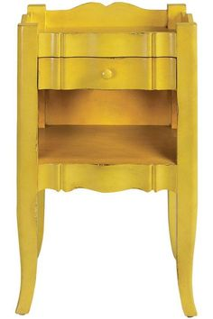 Home Decorators' Emily Side Table, in Antique Yellow. Found on homeworkshop.com