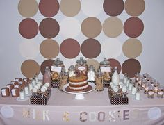 Milk & Cookies Themed Party