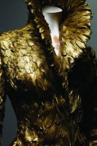 McQueen - gold feathers