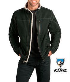 €120 Kühl - BURR JACKET LINED La KÜHL Burr Lined es una chaqueta forrada muy resistente, confeccionada en suave tela de algodón, lista para cualquier uso en un estilo atemporal y construida para la máxima versatilidad.