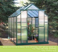 The 2016 Grandio Element Greenhouse! Now offered in 6x4, 6x8, & 6x12 sizes.