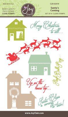 Santa's Coming Clear Stamp Set