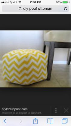 Diy pouf ottoman easy  See required but super cute want to make it