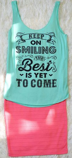 Keep On Smiling Tank  http://www.shopaffordablychicboutique.com