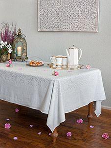 Royal Mansour ~ Moroccan Medallion Trellis White Tablecloth