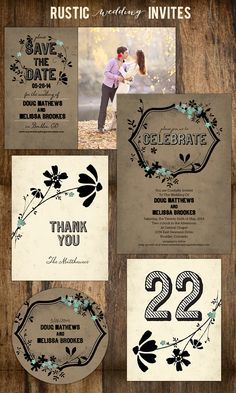 rustic wedding invites from Paper Muse. See more of this collection here. www.papermusepres...
