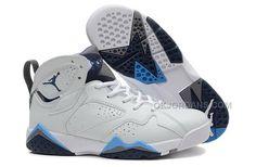 check out 25eba b621e Cheap GS Jordan 7 French Blue-White French Blue-Flint Grey. Air Jordans