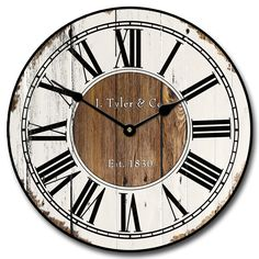 Rustic Wood Wall Clock | Antique Looking Wall Clocks