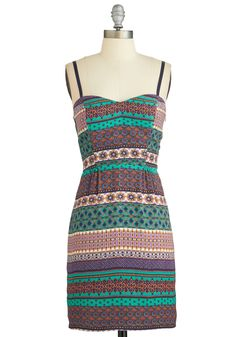 Major Magnetism Dress. Exude confidence that draws people to you in this patterned sheath dress!  #modcloth