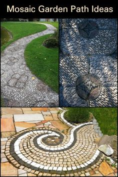These are great examples of mosaic walkways!