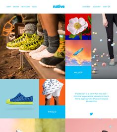 Native Shoes - Inspirational Shops -The Best eCommerce Web Designs Native Brand, Ecommerce Web Design, Native Shoes, Interactive Design, Nativity, Shopping, Interaction Design, The Nativity, Birth