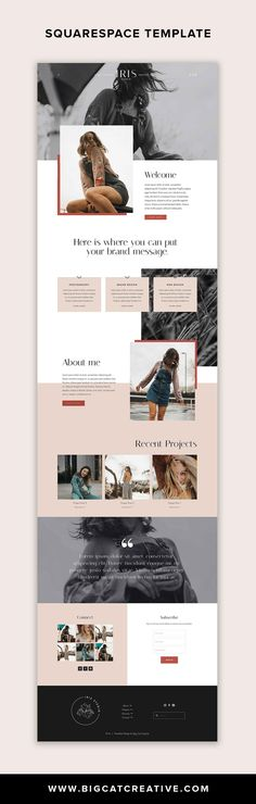 Squarespace Design Squarespace Website Template Kit: IRIS Create your gorgeous new website with our Diy Design, Web Design Tips, Web Design Trends, Flat Design, Design Ideas, Website Layout, Web Layout, Layout Design, Website Design Inspiration