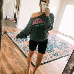 Life after a full day of renovations These biker shorts are amazing. Soft and maternity friendly Amazon fashion Amazon finds #LTKbump #LTKbaby #LTKunder50 Black Fashion Bloggers, Brittany, Biker, Maternity, Ootd, Sporty, Amazon, Shopping, Style