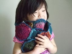 ummashin's Rainbow hexagons (ravelry) - love the photo! :-)