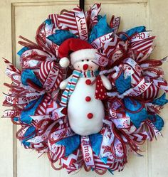 1000+ images about Christmas Wreaths on Pinterest | Snowman Wreath ...