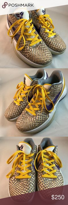 NIKE ZOOM KOBE 6 VI 3D 2011 Lakers Home DEL SOL 12 NIKE ZOOM KOBE 6 VI 3D 2011 Lakers Home DEL SOL 429659-105 SZ 12 Grinch Prelude NIKE Shoes Athletic Shoes