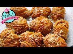 Gül Baklavası Nasıl Yapılır? / Ayşenur Altan Yemek Tarifleri - YouTube Sweet Pastries, Pastry Recipes, Mini Cupcakes, Fudge, Almond, Sweets, Cookies, Baking, Rose