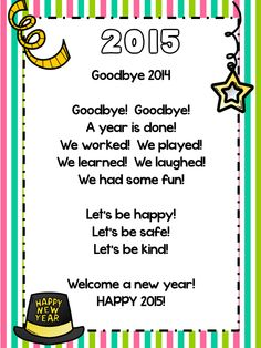 63 best My Classroom~Happy New Year images on Pinterest | New years ...