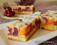 Leti pravimo kolače koji se brzo pripremaju... i brzo pojedu... Ovo je pravi letnji, osvežavajući kolač, raskošnih boja i mirisa. Iskoristite bogatstvo plodova leta i uživajte u kombinovanju omiljenog voća...