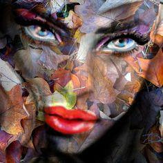 'Blue Eyes Autumn' von Angie Braun bei artflakes.com als Poster oder Kunstdruck $19.41