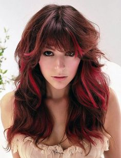 red-highlights-hairstyles
