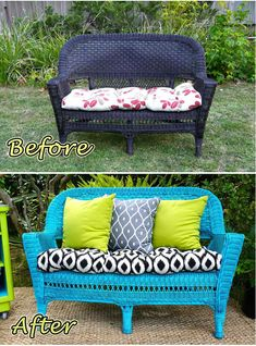 Transform an old, outdated wicker chair into a great patio piece.