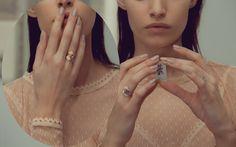 14-karat gold unique rings