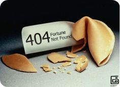 Fortune Cookie Message not found 404 error page