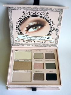 never been one for too faced palettes until I saw this one (natural eye), I am loving the tutorials it comes with too, a change up in the way I apply e/s on a daily basis