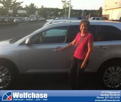#HappyAnniversary to Ava Neubert on your 2010 #Ford #Edge from Bill Roberds at Wolfchase Chrysler Jeep Dodge!