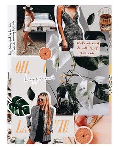 New Fashion Magazine Layout Collage Mood Boards Ideas Collage Poster, Mode Collage, Aesthetic Collage, Collage Art, Flower Collage, Collage Design, Photo Pour Instagram, Instagram Fashion, Instagram Collage