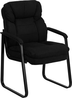 Navy Microfiber Executive Side Chair w/ Sled Base - Flash Furniture microfiber reception chair is the perfect way to greet your patients or clients in your waiting room or reception area. This chair also makes a great side office chair Office Guest Chairs, Office Desk, Study Office, Side Chairs, Room Chairs, Dining Chairs, Wooden Chairs, Desk Chairs, Contemporary Style