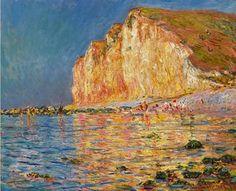 Claude Monet - Marée basse aux Petites-Dalles, 1884. #arte