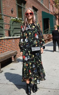 Charlotte Groeneveld's Tibi maxi would make the perfect transitional dress to take you through to autumn