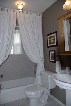 Bathroom Decor Ideas Shower Curtains making your bathroom look larger with shower curtain ideas