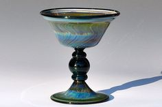 Handblown Glass Ice Cream dish or Goblet by JWglass on Etsy, $49.00
