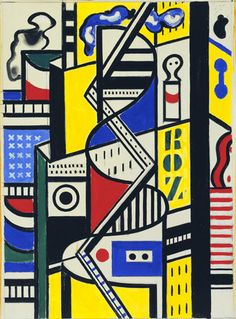 Fernand Léger. Study for Cinematic Mural, Study VI. (1938-39)