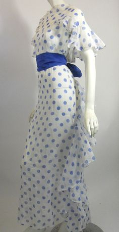 1930s polka dot organza gown, DCV   This is very pretty and I know someone who would love it