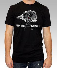 #armtheanimals Arm The Animals Men's M-16 Wolf ( Arctic Warfare ) Crew in Black
