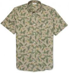 1888054f94 Nn.07 Derek Printed Cotton Short-sleeved Shirt Short Sleeve Button Up,  Casual