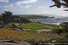 Ranked #1  of 100 Top Links Courses in the World ~   Cypress Point Golf Course 15th Hole - Pebble Beach, California