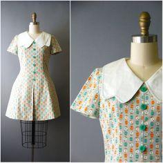 1960's Owl Print Dress//60's Mod Mini by CapsuleVintage on Etsy, $86.00