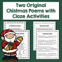 Two Original Christmas Poems with Cloze Activities