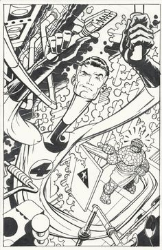 Mr Fantastic and The Thing by Jon Bogdanove
