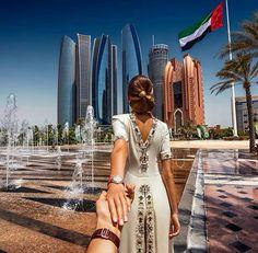 Abu Dhabi (the photo series by Russian Photographer, Murad Osmann) Abu Dhabi, Murad Osmann, Travel Around The World, Around The Worlds, Wild Girl, Dubai Travel, Dubai Vacation, Luxury Travel, Dubai Mall