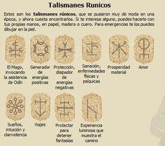 Las Runas, alfabeto escandinavo Pagan Symbols, Viking Symbols, Viking Runes, Magick, Witchcraft, Clara Berry, Handpoke Tattoo, Talisman, Asatru